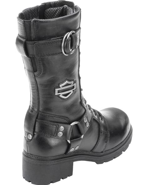 s lace up motorcycle boots harley davidson s eda 9 quot lace up motorcycle boots
