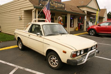 brat car old parked cars 1978 subaru brat