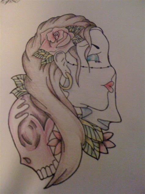 gypsy head tattoo design by kittykat6666 on deviantart