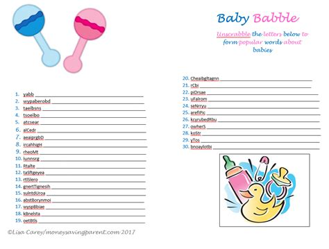 Baby Shower Baby Names by Free Printable Baby Shower Baby Names And