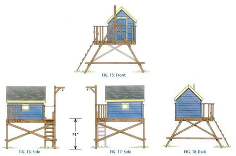 free tree house designs pdf free standing tree house plans plans free