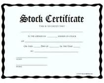 blank stock certificate template free free printable stock certificates