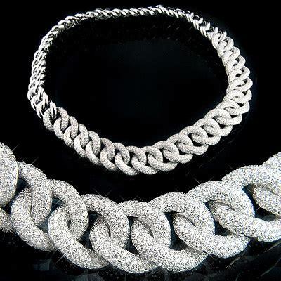 18K Gold Womens Cuban Link Pave Diamond Necklace 22.4