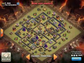 Clash Of Clans Th9 War Base Set Ups 2 Air Sweepers » Home Design 2017
