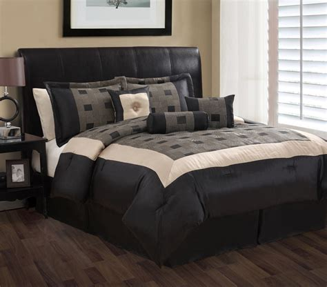 7 piece king theo black and gray jacquard comforter set ebay