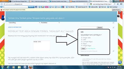 cara membuat website voting raffi iskandar blog cara membuat widget polling voting