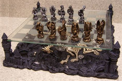dragon chess set chess set with glass board themed polyresin platform