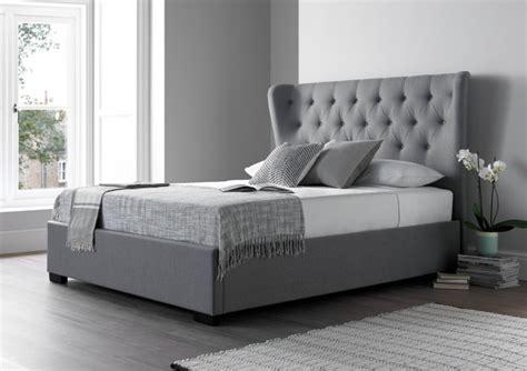 grey king bed frame salerno cool grey upholstered bed frame upholstered beds