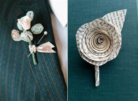 How To Make Paper Boutonniere - 20 alternative boutonnieres chic vintage brides