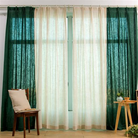 green and beige curtains emerald green and beige linen modern custom curtains