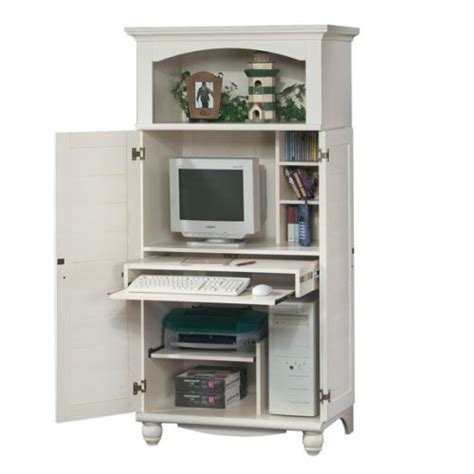 white computer armoire desk amazon com antique white shutter door computer desk