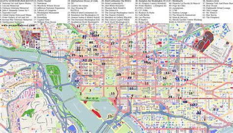 washington dc map points of interest city maps washington dc