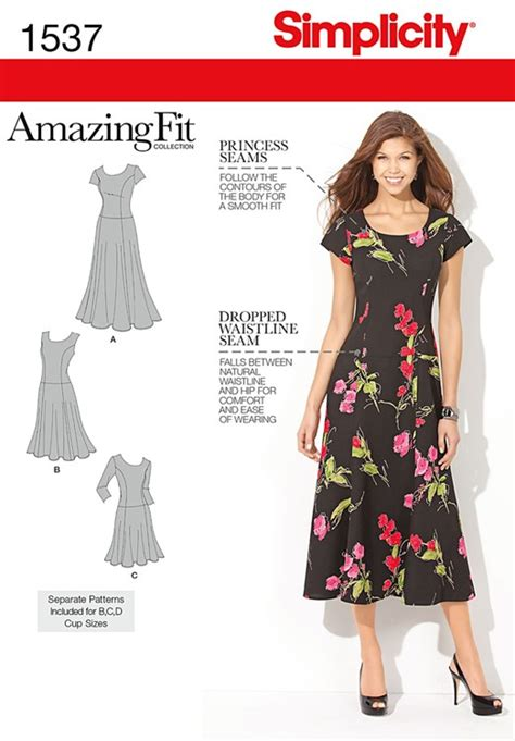 pattern review simplicity amazing fit misses amazing fit dress simplicity pattern 1537 sew