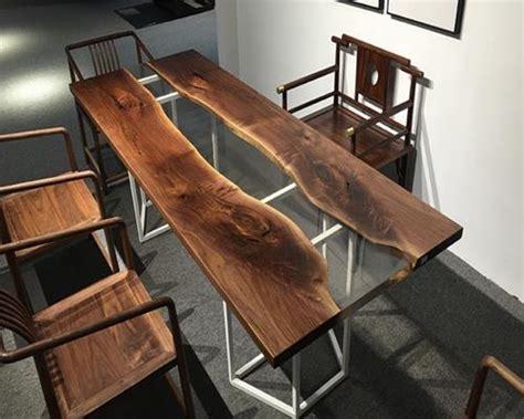 China Custom American Black Walnut Epoxy Resin Table