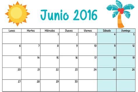 Calendario De Junio Junio Calendario Escolar 2015 2016 Para Imprimir