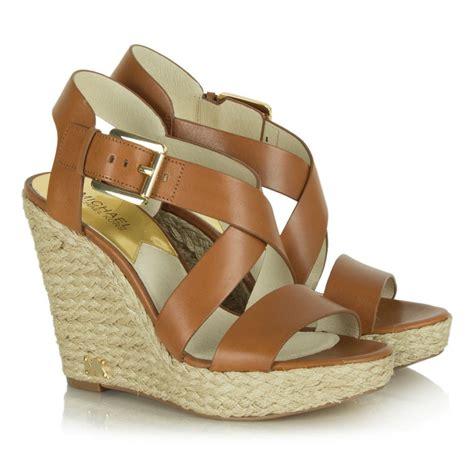 michael kors giovanna wedge sandal michael kors leather giovanna wedge sandal