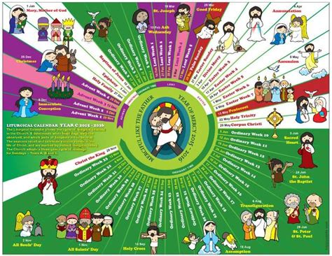 Catholic Liturgical Calendar 2015 Catholic Liturgical Calendar 2015 Holy Days Of