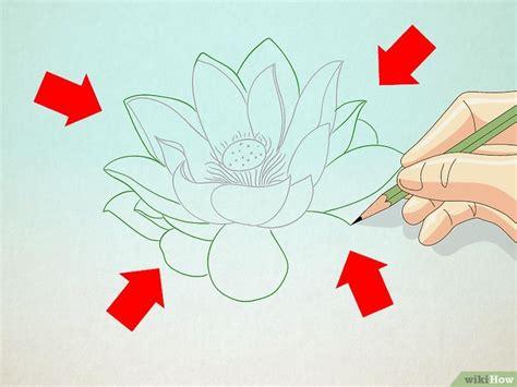 come si disegna un fiore come disegnare un fiore di loto 7 passaggi