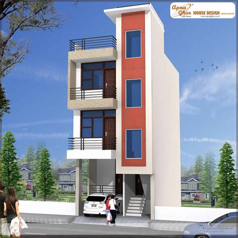4 floor house design independent floor design apnaghar house design page 2