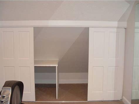 Knee Wall Closet sliding door in knee wall second floor conversion ideas