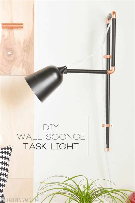 Diy Wall Sconce Light Diy Wall Sconce Task Lights A Target Update Vintage Revivals