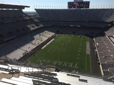 kyle field visitor section kyle field section 413 rateyourseats com