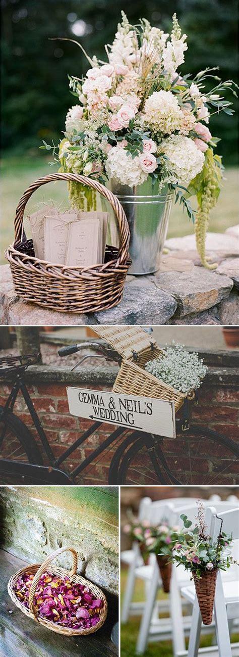 cestas decoracion cestas ideas para decorar bodas y fiestas en el co