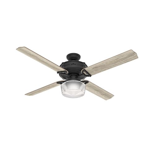 wifi enabled ceiling fan hunter brunswick 60 in led indoor natural iron wi fi