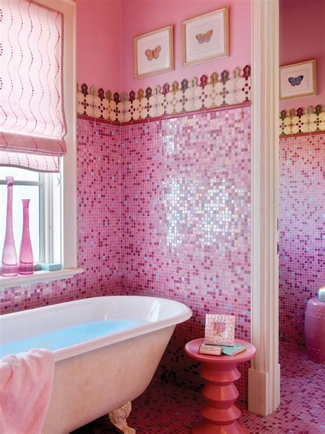 pink bathroom decor ideas pictures tips from hgtv