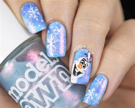 frozen nail art tutorial video copycat claws 31dc2014 day 23 inspired by a movie
