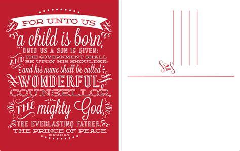 design inspiration christmas card digital christmas card postcard design red for unto us