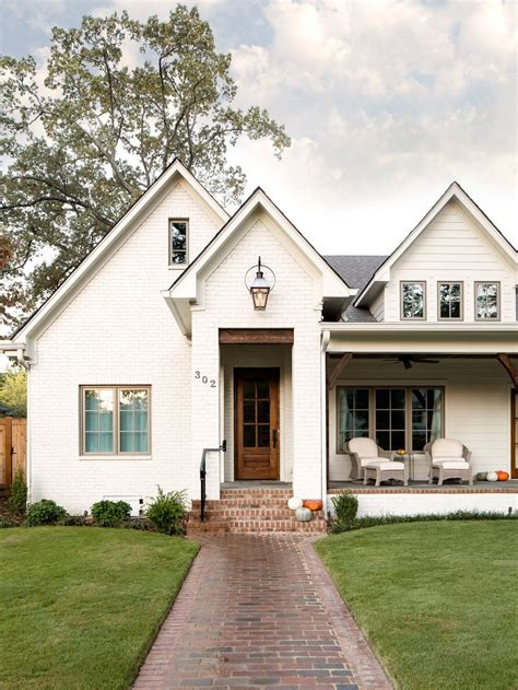 white homes 20 white brick exterior walls to envy
