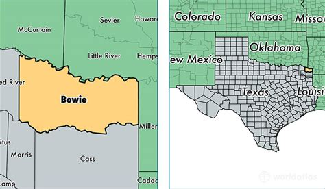 bowie county texas map bowie county texas map my