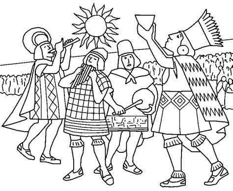 Inca Empire Coloring Page 3 Wallpaper Coloring Inca Coloring Pages