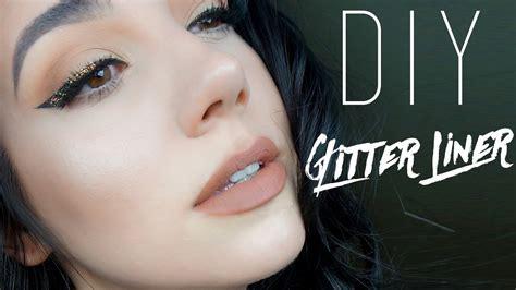 glitter eyeliner tutorial youtube diy glitter eyeliner tutorial quinnface youtube