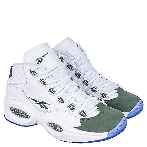 reebok question basketball shoes reebok question mid s white athletic basketball shoe