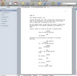 screenplay format template free screenwriting template for openoffice