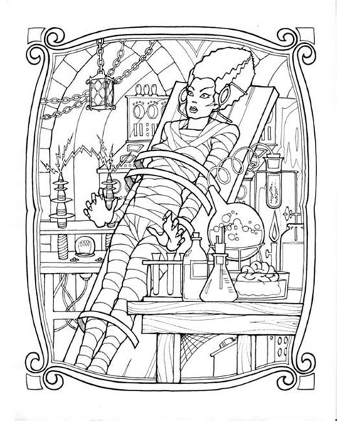 vire coloring pages frankenstein frankenstein and brides on