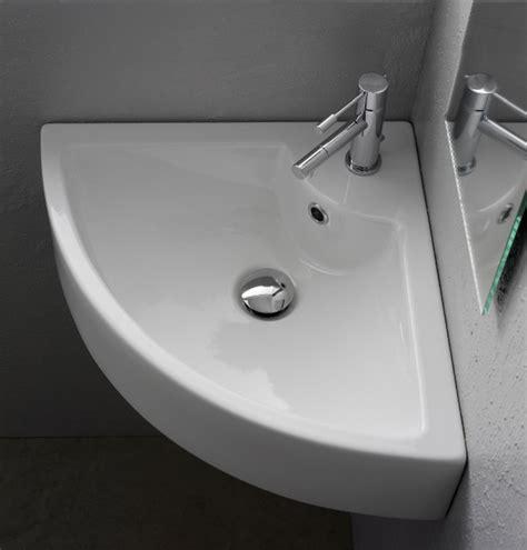 Modern Corner Bathroom Sinks Modern Wall Mounted Or Vessel Corner Bathroom Sink