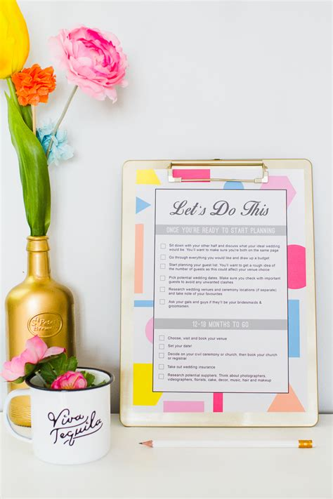 Wedding Planner To Do List by Wedding Checklist Free Printable The Ultimate List To