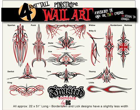 Ebay Wall Sticker pinstripe wall art oversized vinyl decal for large