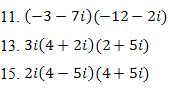 Complex Numbers Worksheet With Answer Key