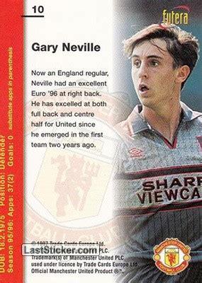 card 10 gary neville futera manchester united 1997 laststicker