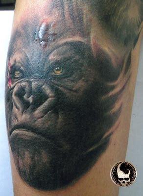 tattoo nightmares gorilla gorilla portrait tattoo by little dragon tattoonow