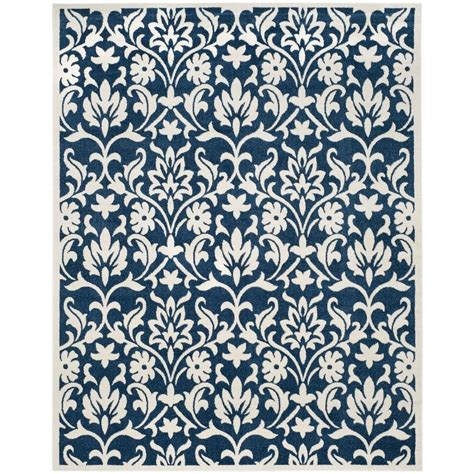 Home Depot Indoor Outdoor Rug Safavieh Amherst Light Blue Navy 8 Ft X 10 Ft Indoor Outdoor Area Rug Amt420q 8 The Home Depot