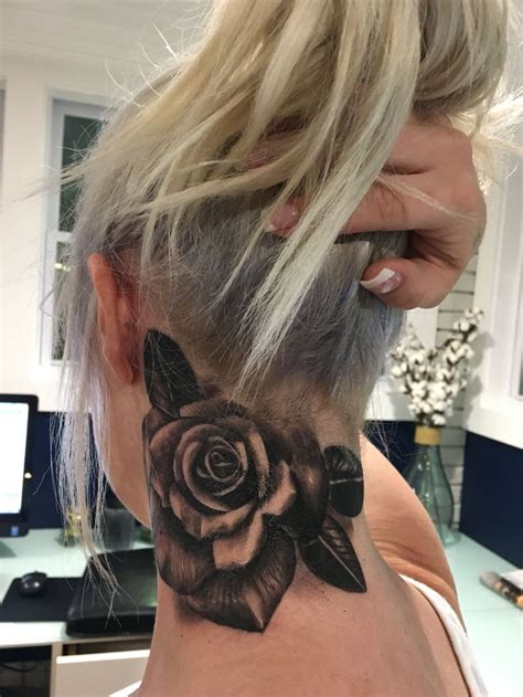 rose neck tattoo meaning best 25 neck ideas on