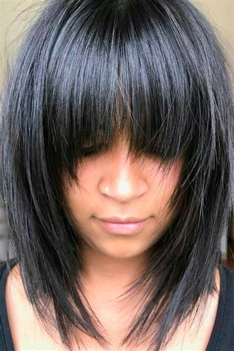 hairstyle ideas with a fringe awesome full fringe hairstyle ideas for medium hair 31
