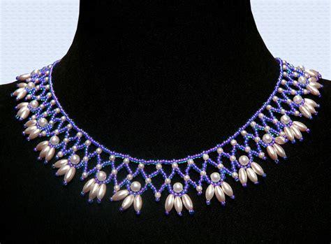 jewelry patterns free pattern for beautiful beaded necklace esmeralda