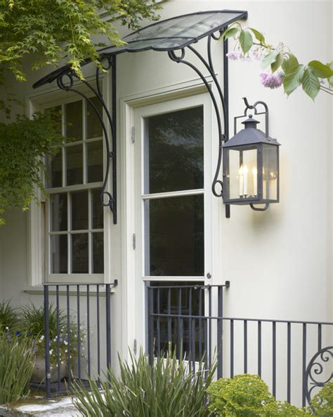 glass door awning beaux arts residence entry canopy traditional entry