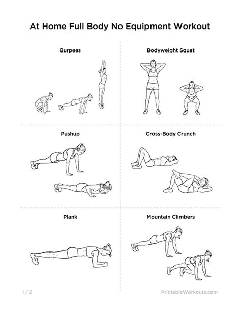 ultimate at home no equipment workout routine for